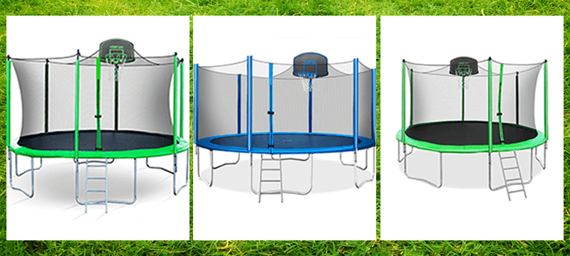 3 different models Merax trampoline