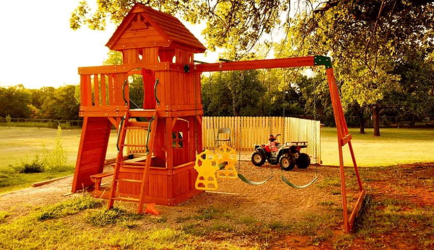 the playset for kids to play with